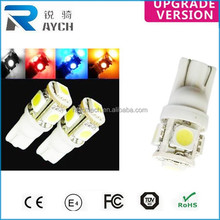 T10 5050 W5W 5 SMD 194 168 LED White Car Side Wedge Tail Light Lamp Bulb 12V