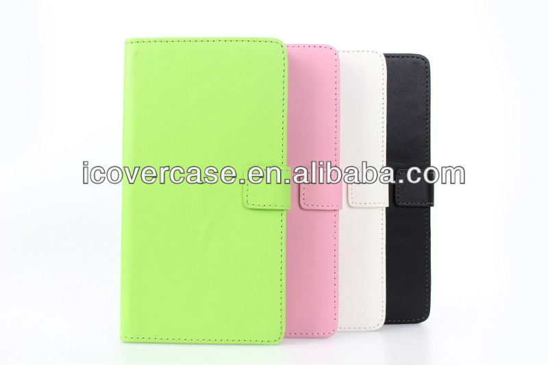 PU wallet leather case for Sony XL39h Xperia Z Ultra with black,white,pink,green color
