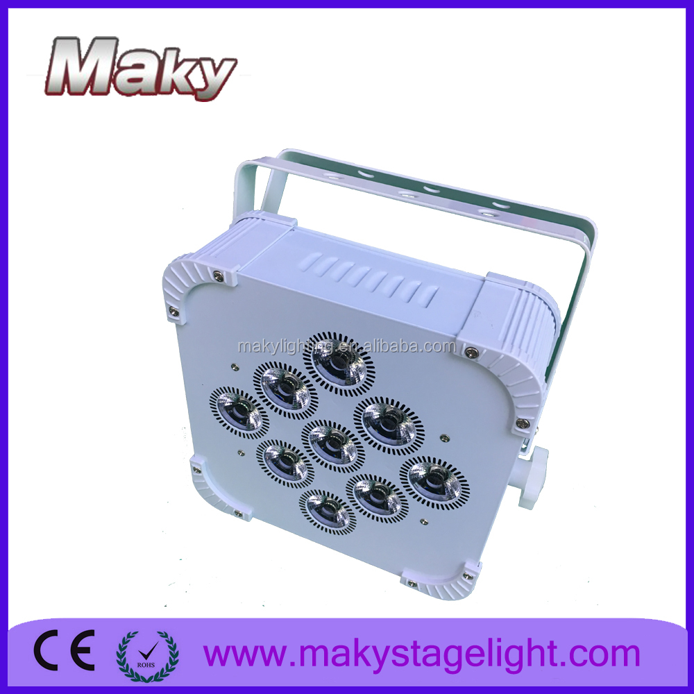 MAKY MQ-G114 9pcs led battery&wireless dmx par light with RGB/RGBA/RGBW/RGBWA/RGBWAUV