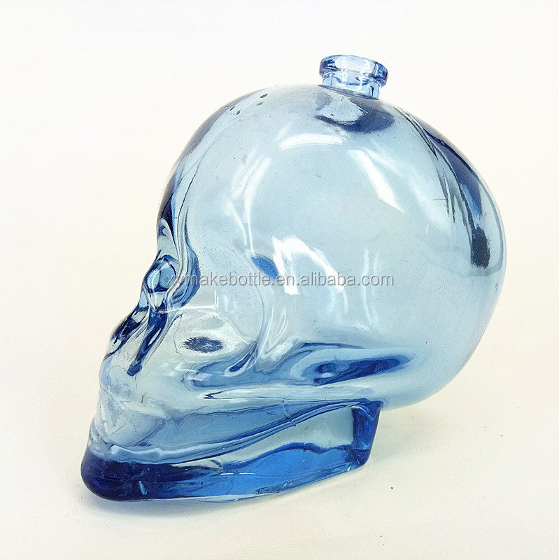 skull head glass perfume bottle 130ml