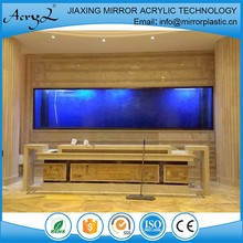 Aluminium Alloy Frame Decoration Wall Mounted Aquarium / Fish Tank