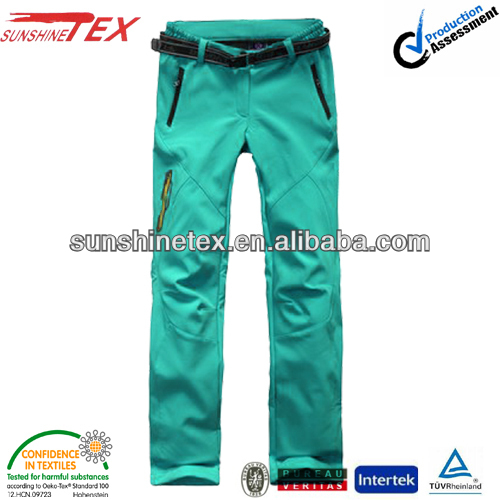 fashion waterproof softshell running pants