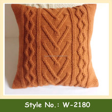 W-2180 custom knitted pillow cover crochet cable knit pillow case handmade cushion cover