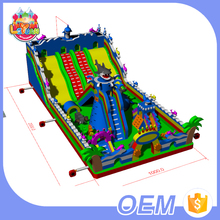 Hot Selling New Designed Large Sea World Fun City Bouncer Castle Kids Inflatable Amusement Park With Slide For Sale