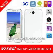 5.7 inch Android 4.1 Quad Core Dual Sim 8.0MP AF camera 3G Smart phone