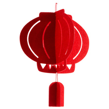 alibaba wholesale high quality red felt lantern for chinese new year