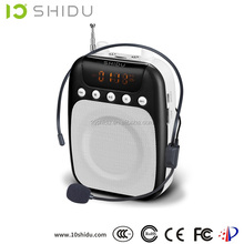 Portable mp3 player with speaker FM stereo radio SD-S358