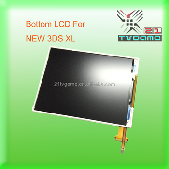 100% Original Dismantled Bottom TFT LCD for NEW 3DS XL,Game Spare Parts LCD Screen For 2015 NEW 3DS XL