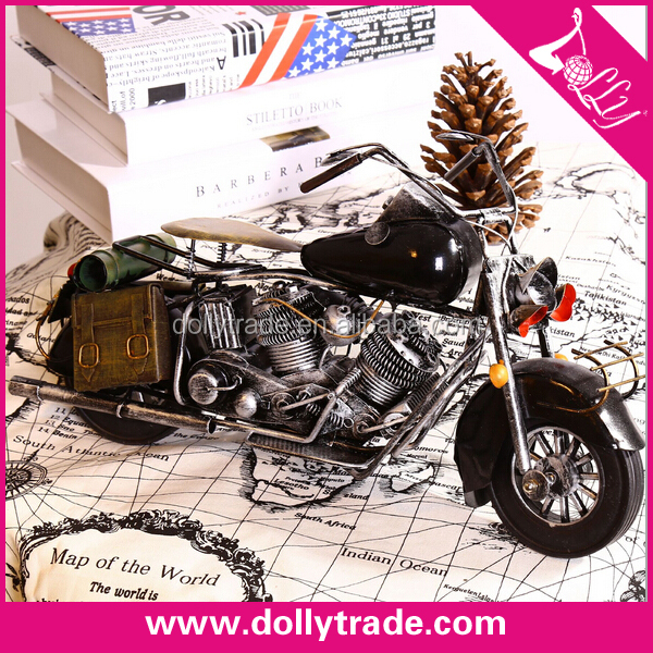 mini handmade metal motorcycle model for wholesale