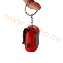 Promotional Custom Keychain Mini LED Light Colorful Key Chain With Ring