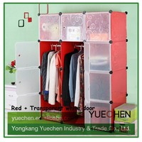 2015 hign quality china bedroom plastic detachable wardrobe trunk for home