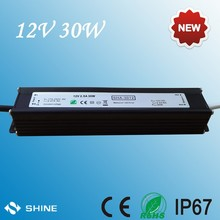3 years warranty 2.5a 12v 30w led driver power supply, waterproof Constant voltage ac adaptor 12v