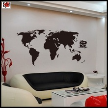 High quatity Living room World Map Wall Stickers hot sell