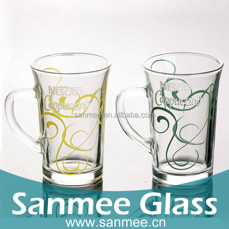 Advertising Glass Cup Hot Sales Color Logo Glassware Coffee Mug