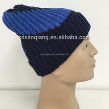 New Unisex Stretch Winter Wool Crochet Fold-up Beanie Hat Warm Ski Cap