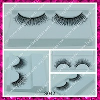 Wholesale primer quality false eyelash with custom packaging OEM synthetic eyelashes