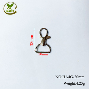 Factory direct cheap metal spring clip dog hook for keychain  4g-20mm