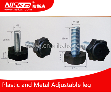 Plastic and iron adjustable Articulated Feet, table leveling legs