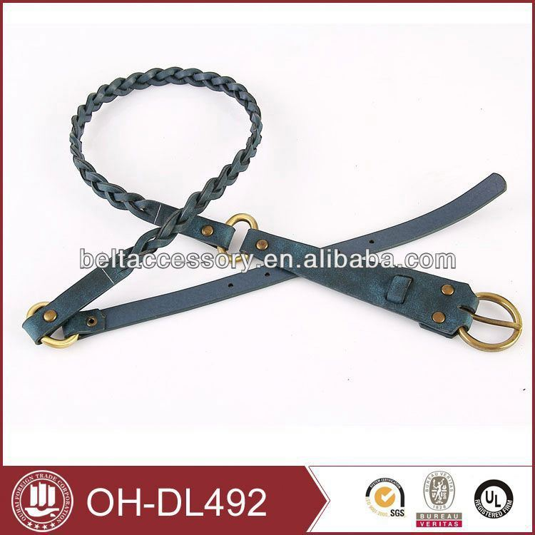 Men fashion high quality brown real leather belt