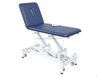 Adjustable height and head two section electric treatment table/medical examination couch CY-C107