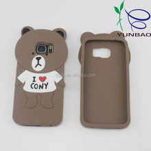 love heart bear durable slim armor silicone factory mobile phone case for