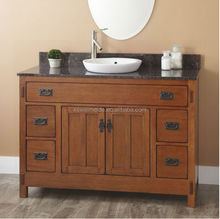 Mission Hardwood Vanity Top for Rustic Oak Vanity Cabinet