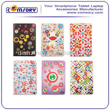 Hot popular cartoon stand PU Leather Case for iPad Mini accept Paypal