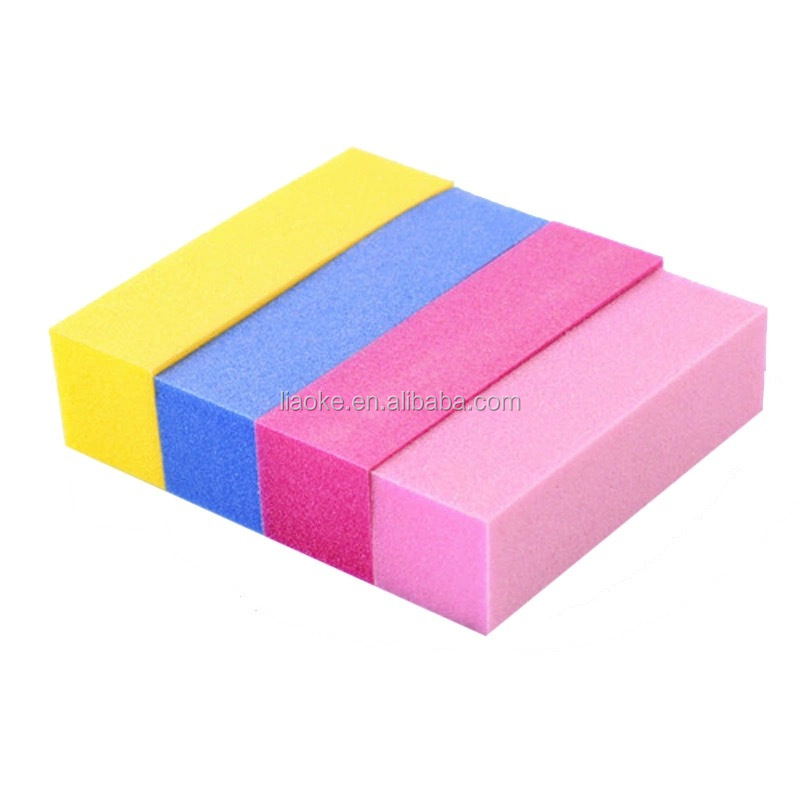 High Quality White Sponge Buffer Buffing Block Sanding Files Manicure Tool