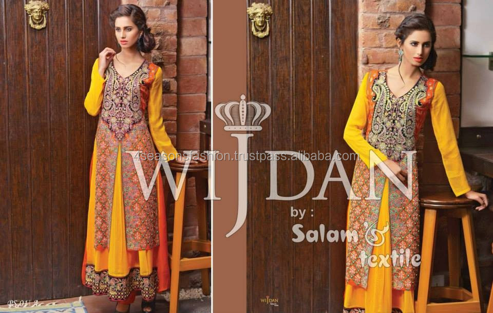 Pakistani Fancy Chiffon Dresses 2015