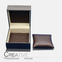 Chocolate color good quality pu leather watch box wholesales