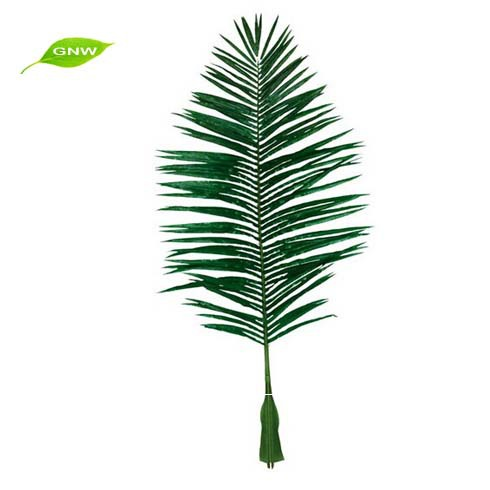 Artificial Tree Leaves Oval Plastic/Silk Coconut Palm Leaves for Decoration High Simulation and Good Quality