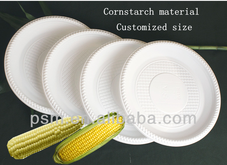 Cheap sell biodegradable eco friendly plastic <strong>plate</strong>