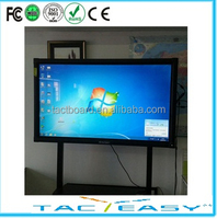 Wall mount finger touch LED multi touch screen interactive whiteboard, computer all in one