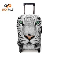 Luckiplus Trandfer Printed Technology Luggage Cover High Quality Spandex Polyester Trolley Case Cover