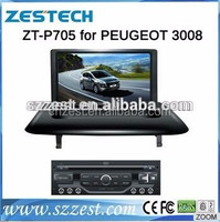 7 inch 2 din car gps navigation system for Peugeot 3008 car dvd player with car lcd monitor GPS DVD V-10disc Radio 3G SWC