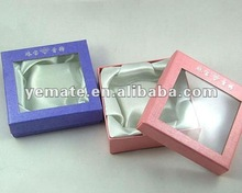 Paper gift boxes clear lid, gift box with clear window, paper cardboard jewelry gift box with transparent window on the lid