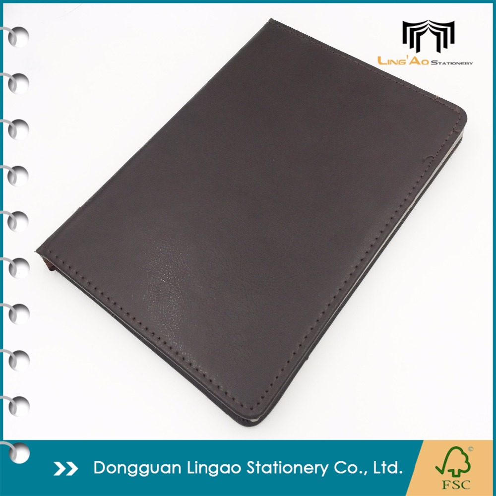 Wholesale Custom made handcraft personalized diary PU leather cover planner notebook