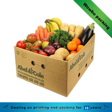 cheap wholesale corrugated paper box for fruit packing