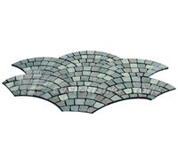 fan shaped irregular shaped granite cobblestone paver