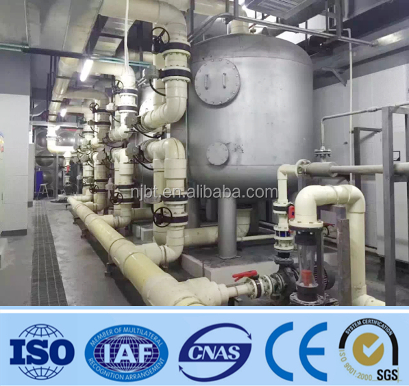 SS 316L automatic back washing Quartz sand filter For Water Treatment Plant
