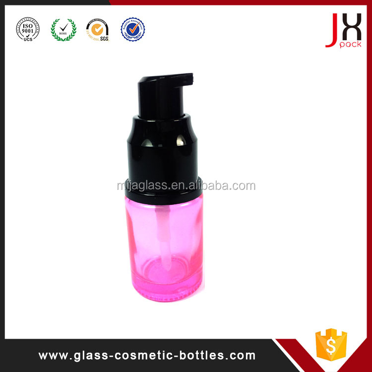 Guangzhou Glass Cosmetic Bottle/30ml 50ml 100ml Colored Serum Dropper/Essential Oil Cosmetic Glass Bottle with Dropper/Pump/Cap