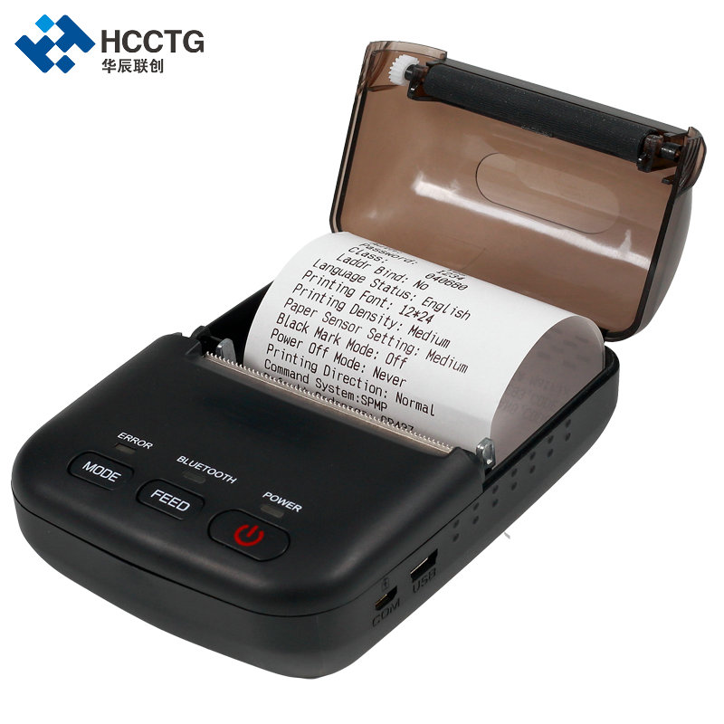 China Supplier Android Handheld Mini 58mm Portable Bluetooth Mobile Thermal Receipt Ticket Printer HCC-T12