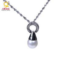 925 silver jewelry high quality charm engagement pearl necklace designs choker silver chain