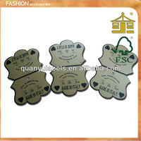 2013 hot sale printed paper gift hang tag with die cut euro shape hole for promotion