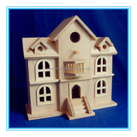 High quality handmade mini wooden doll house