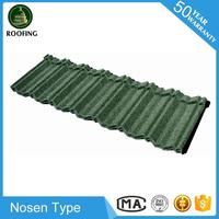 New design Nosen building material,colorful stone coated steel roof tile with low price
