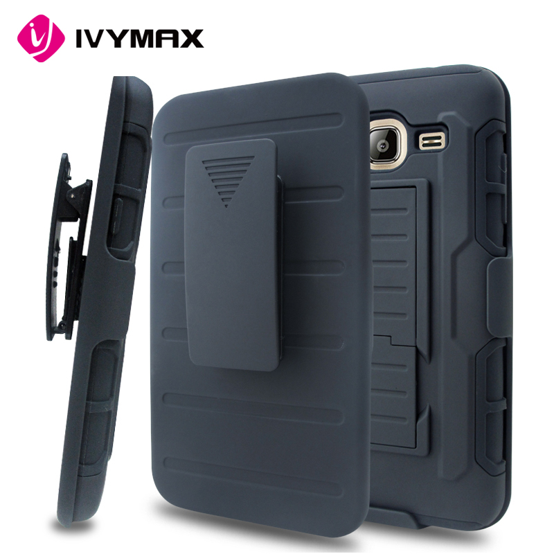 New arrival crashproof armor stand plastic cell phone case for samsung galaxy j3