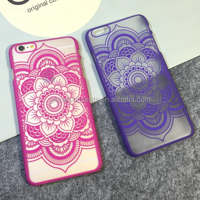 2015 July New Arrive Simple & Luxury Datura Flower Printed Hard Case Cover for iPhone5S 6 6 PLUS