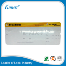 High Quality Factory Thermal Paper Card Airline Flight Ticket Printing/Airline boarding pass printing