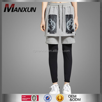 Fahion Janpan Style Hip-Hop Teenage Grey Render Pants Short Pants Men Trousers